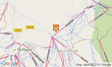 Karte La Plagne Studio 48754