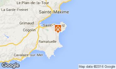 Karte Saint Tropez Mobil-Home 102255
