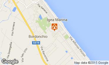 Karte Bellaria Igea Marina Appartement 31420