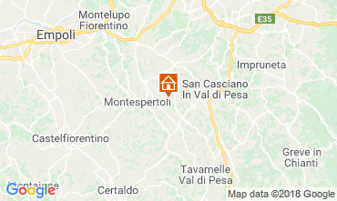 Karte Montespertoli Bungalow 115969