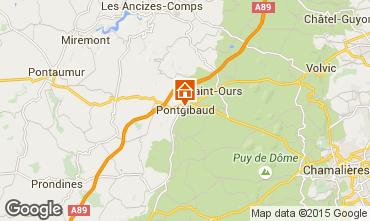 Karte Clermont-Ferrand Ferienunterkunft auf dem Land 100191