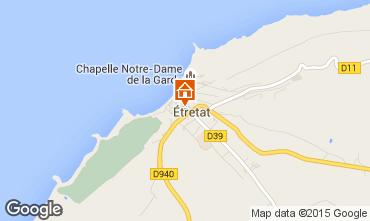 Karte Etretat Ferienunterkunft auf dem Land 7726