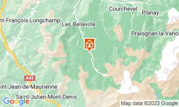 Karte Les Menuires Chalet 111406