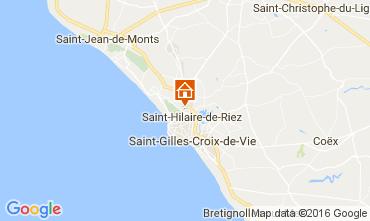 Karte Saint Hilaire de Riez Mobil-Home 107395