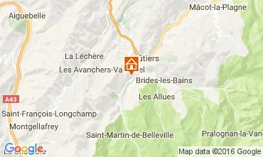 Karte Saint Martin de Belleville Chalet 2645
