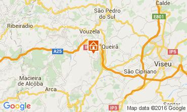 Karte Caramulo Ferienunterkunft auf dem Land 70149
