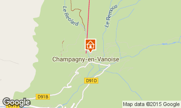 Karte Champagny en Vanoise Studio 576