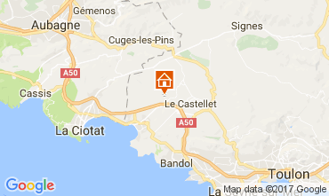 Karte La Cadière d'Azur Mobil-Home 77786