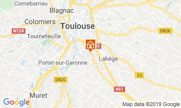 Toulouse Karte.Ferienunterkünfte Toulouse