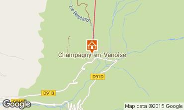 Karte Champagny en Vanoise Appartement 578
