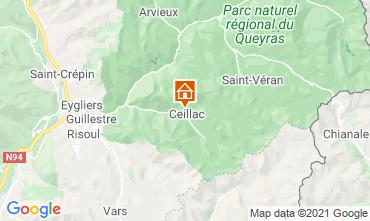 Karte Ceillac en Queyras Appartement 560