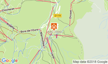 Karte Les Arcs Appartement 101660