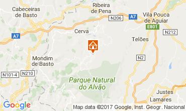 Karte Vila Real Ferienunterkunft auf dem Land 111962