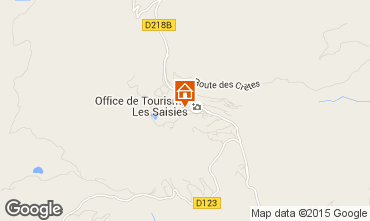 Karte Les Saisies Studio 64146