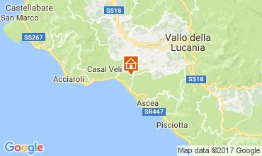 Karte Ascea Appartement 109959