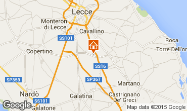 Karte Lecce Appartement 57535