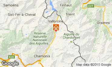 Karte Chamonix Mont-Blanc Chalet 721