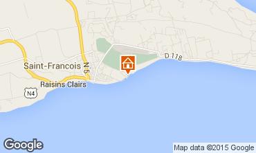 Karte Saint Francois Appartement 39298