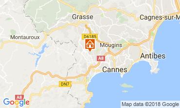Karte Cannes Ferienunterkunft auf dem Land 112877