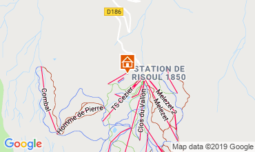 Karte Risoul 1850 Appartement 112131