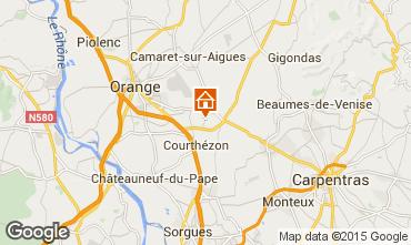 Karte Avignon Ferienunterkunft auf dem Land 86302