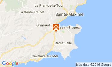Karte Saint Tropez Mobil-Home 107500