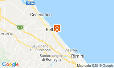 Karte Bellaria Igea Marina Appartement 81806