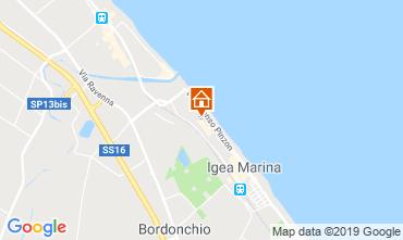 Karte Bellaria Igea Marina Appartement 81806