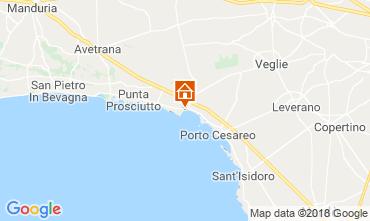 Karte Porto Cesareo Fremdenzimmer 114377