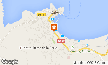 Karte Calvi Appartement 96733