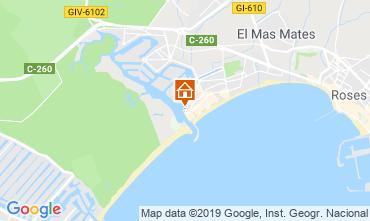 Karte Rosas Appartement 8285
