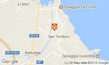 Karte San Teodoro Appartement 85598