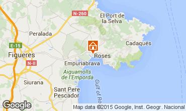 Karte Rosas Appartement 8303