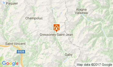 Karte Gressoney Saint Jean Chalet 111344
