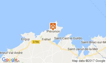 Karte Frehel Ferienunterkunft auf dem Land 112236