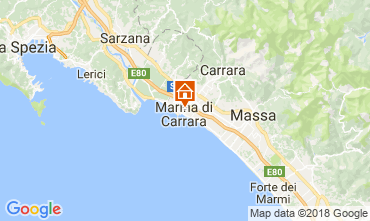 Karte Marina di Carrara Appartement 112472