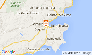 Karte Saint Tropez Studio 68910