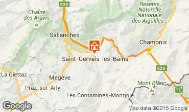 Karte Saint Gervais Mont-Blanc Chalet 2549