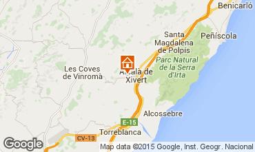 Karte Alcossebre Ferienunterkunft auf dem Land 58320