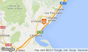 Karte La Ametlla de Mar Haus 102939
