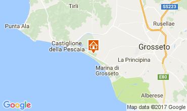 Karte Marina di Grosseto Mobil-Home 109449