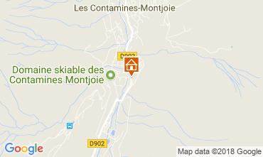 Karte Les Contamines Montjoie Ferienunterkunft auf dem Land 115103