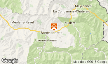 Karte Barcelonnette Appartement 79291