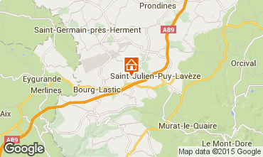 Karte La Bourboule Haus 11843