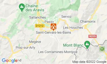 Karte Saint Gervais Mont-Blanc Appartement 66844