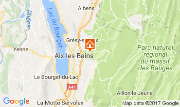 Karte Aix Les Bains Ferienunterkunft auf dem Land 110883