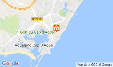 Karte Cap d'Agde Appartement 6171