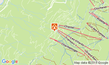 Karte Les Arcs Appartement 112980
