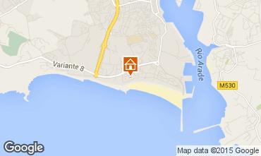 Karte Praia da Rocha Appartement 84593