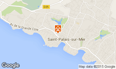 Karte Saint Palais sur Mer Studio 81572